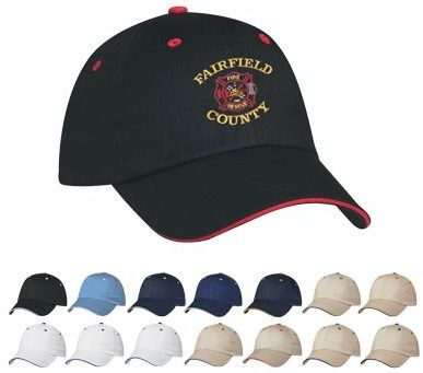 wholesale custom baseball caps, embroidered in bulk, sandwich style