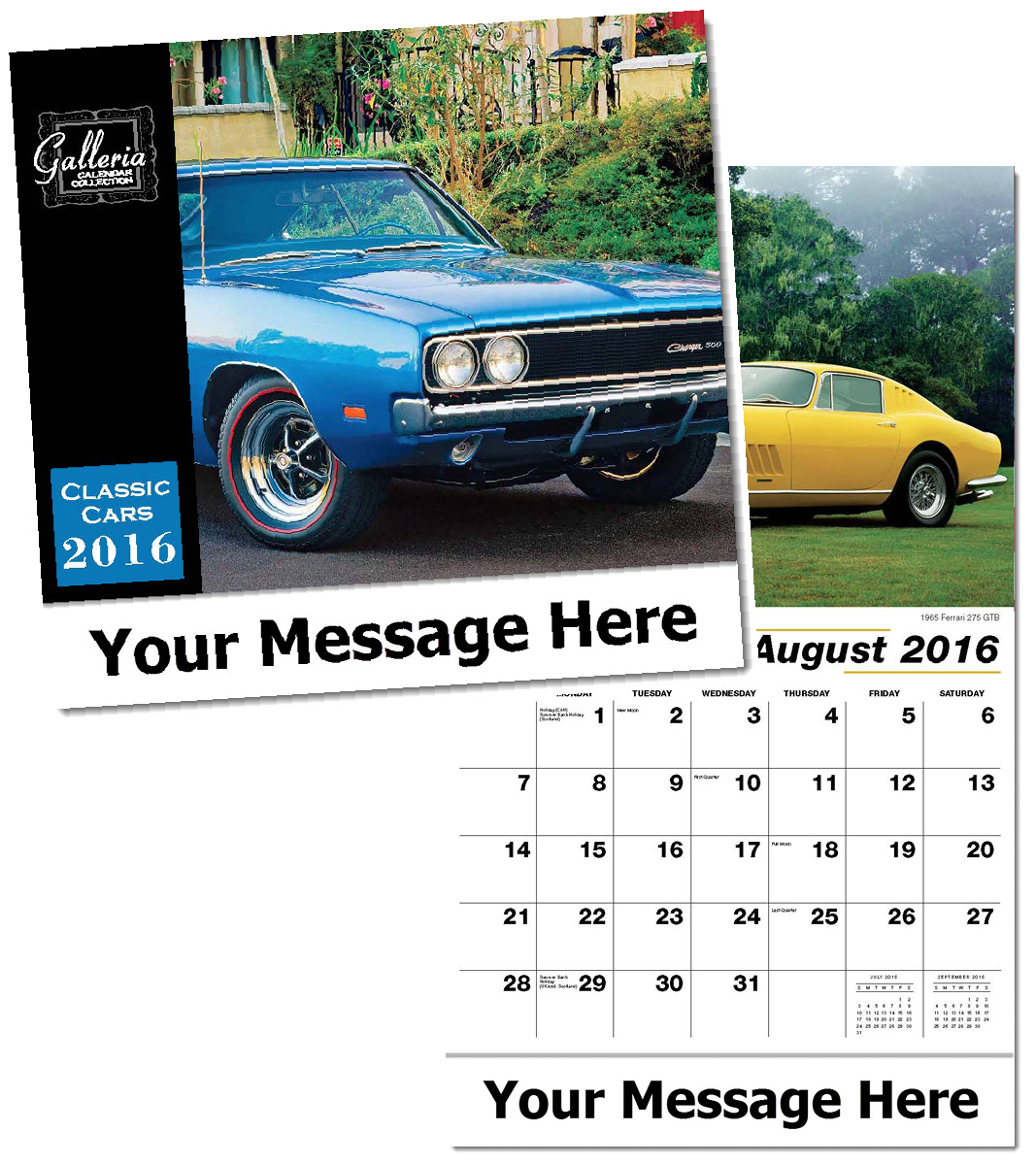 Bulk Classic Cars Calendars, Personalized with Custom Imprint