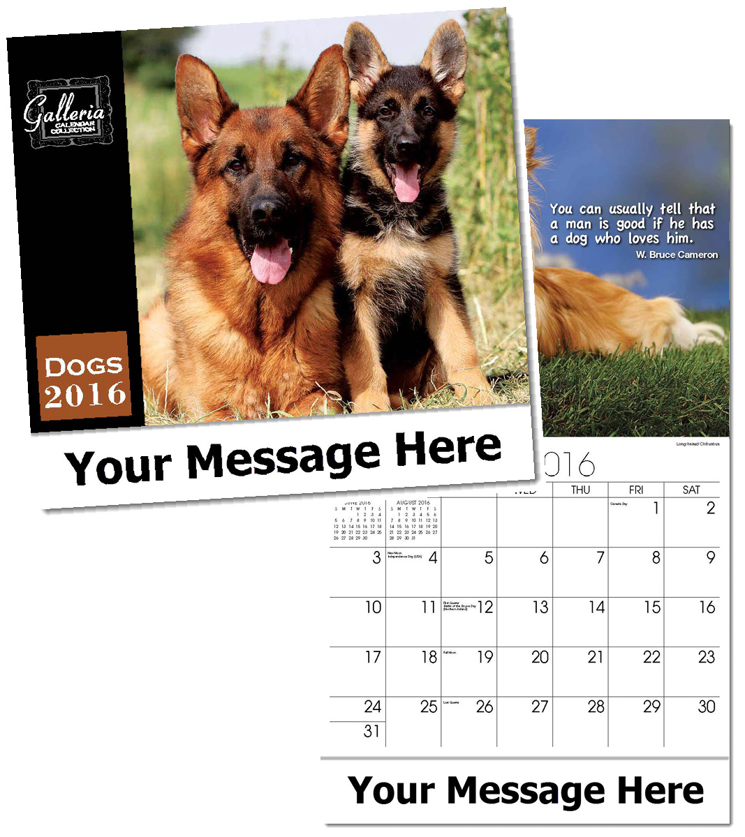 Wholesale Dogs Calendars, Personalized with Custom Imprint