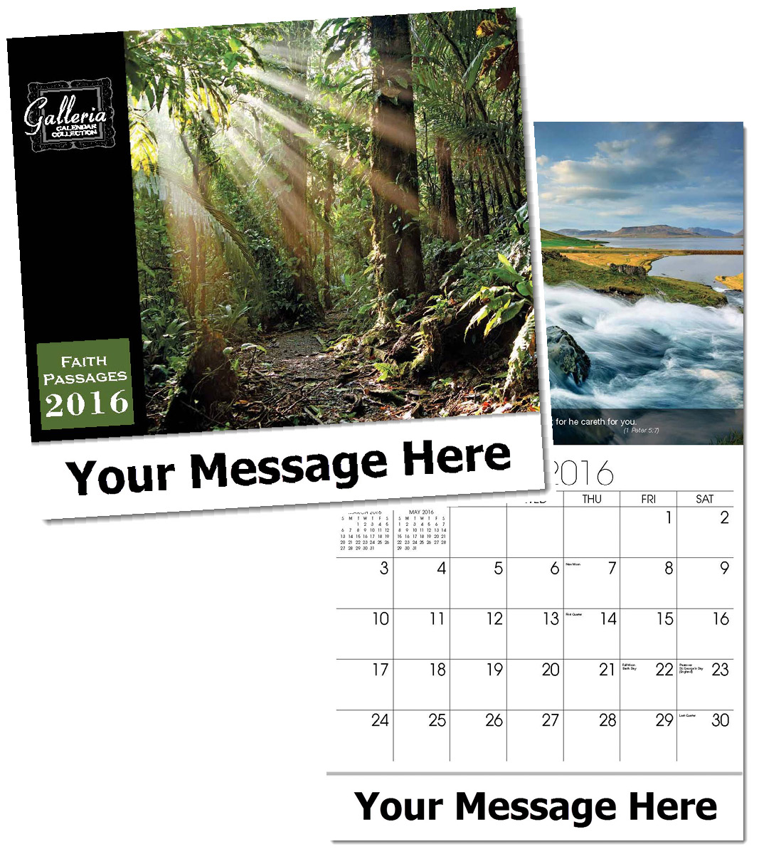 Custom Imprinted Wall  Inspirational Calendars in Bulk