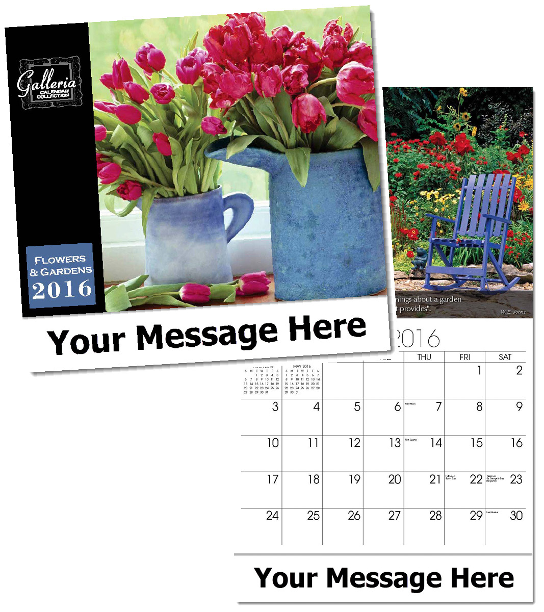 Wholesale Flowers & Gardens Calendars, Personalized with Custom Imprint