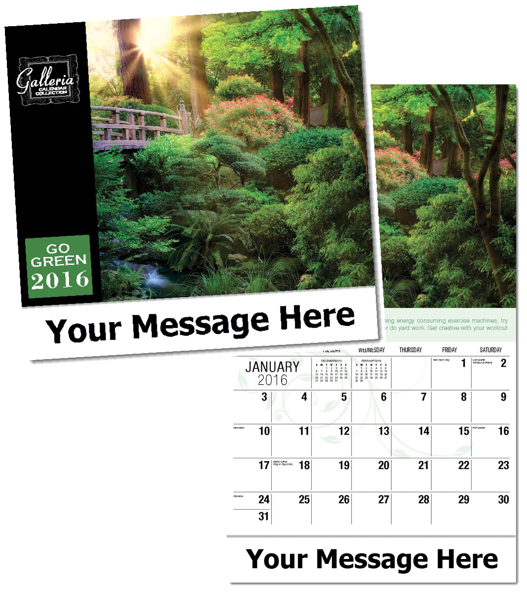 Ecological Calendars, Personalized in Bulk