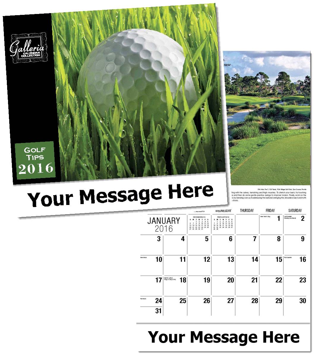 Wholesale Golf Tips Calendars, Personalized with Custom Imprint