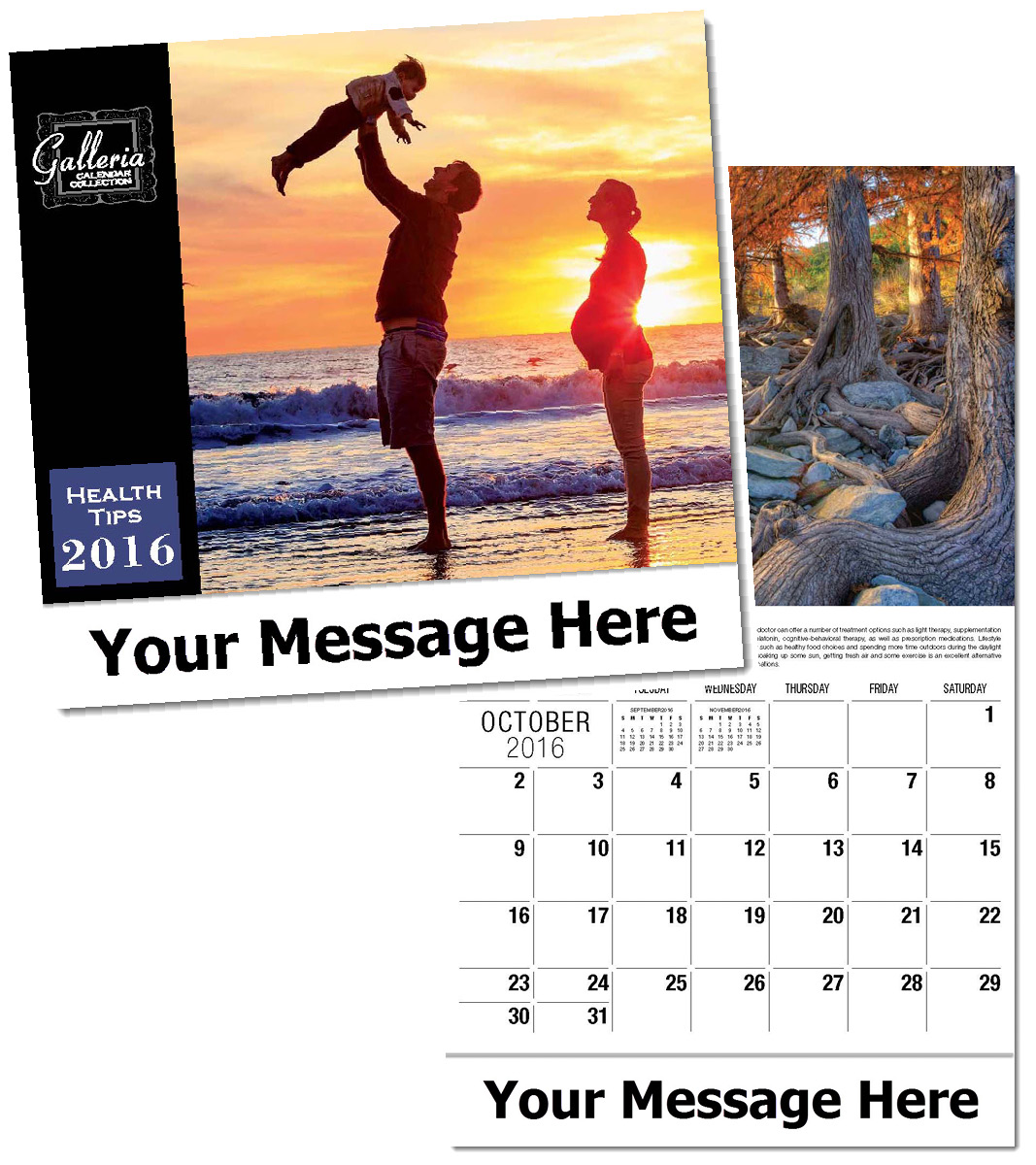 Wholesale Health Calendars, Personalized with Custom Imprint