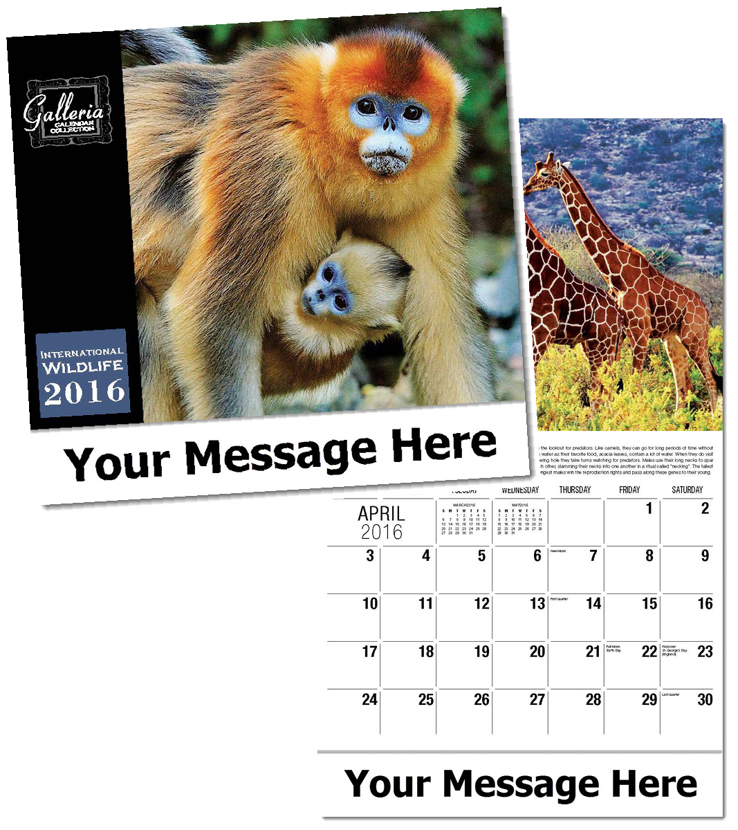 Wholesale Wildlife Calendars, Personalized with Custom Imprint
