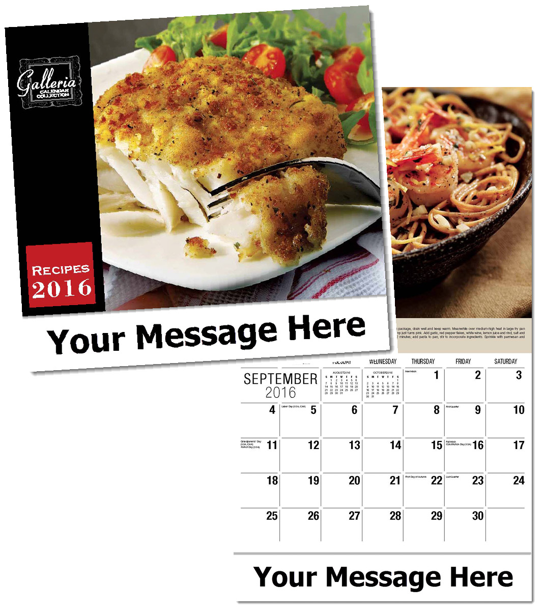 Wholesale Recipes Calendars, Personalized with Custom Imprint
