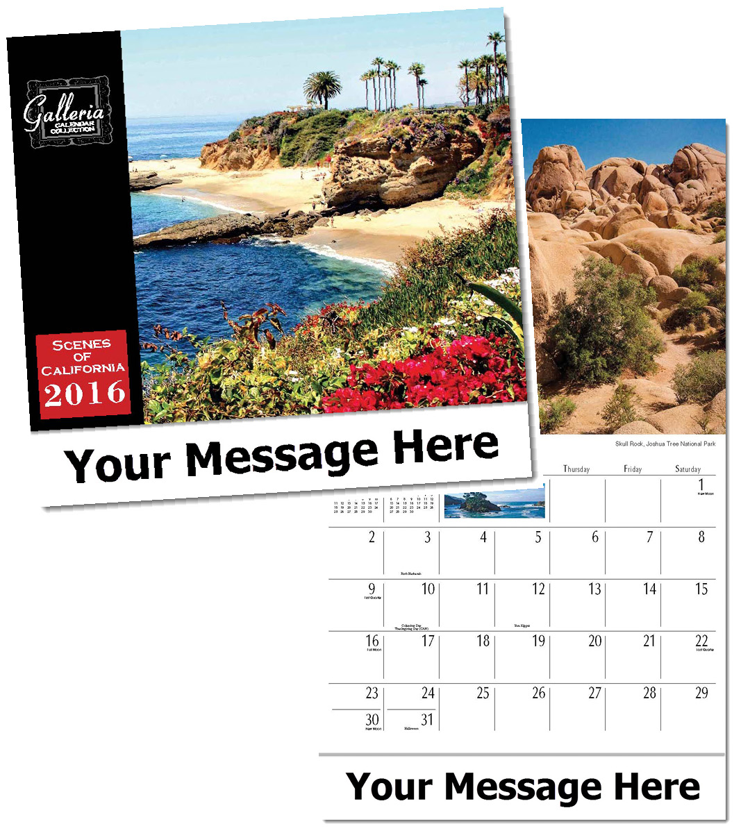 Wholesale Scenes of California  Calendars, Personalized with Custom Imprint