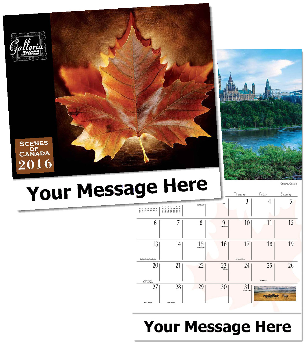 Canada Calendar customized in bulk