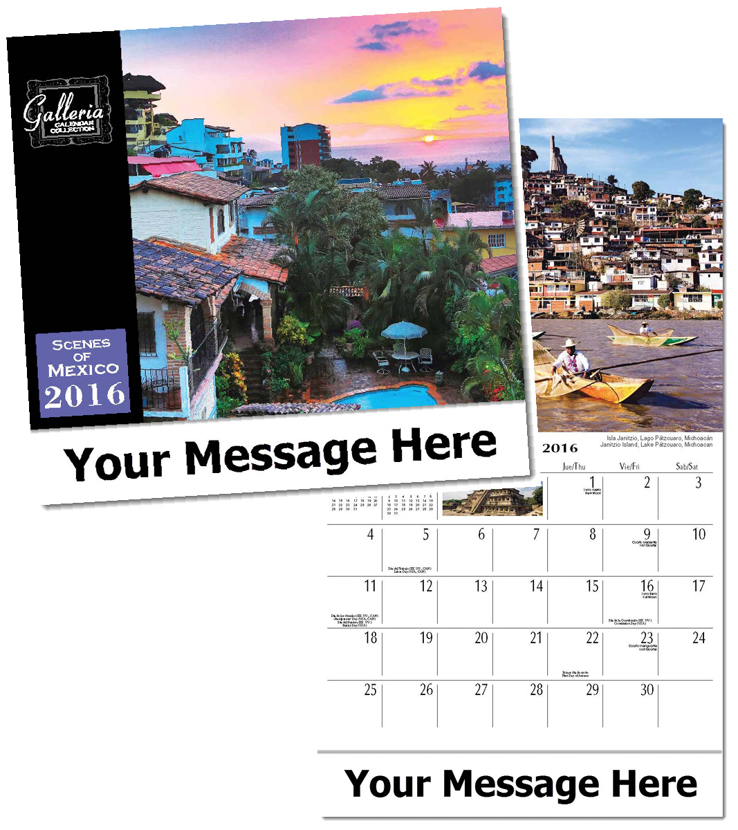 Wholesale Scenes of Mexico Calendars, Personalized with Custom Imprint