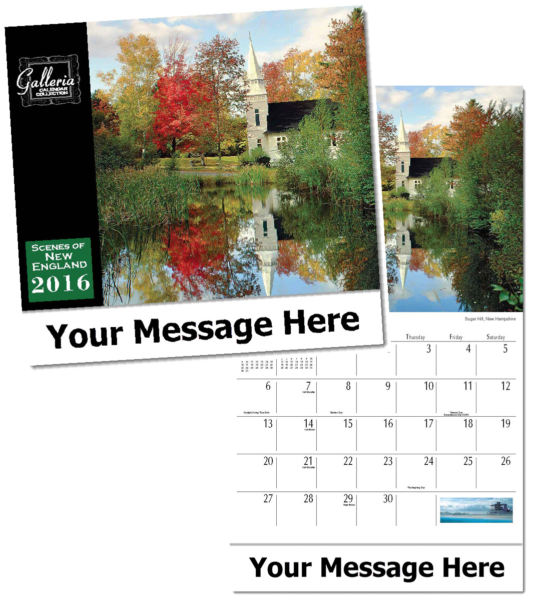 Wholesale Scenes of New England Calendars, Custom Imprinted