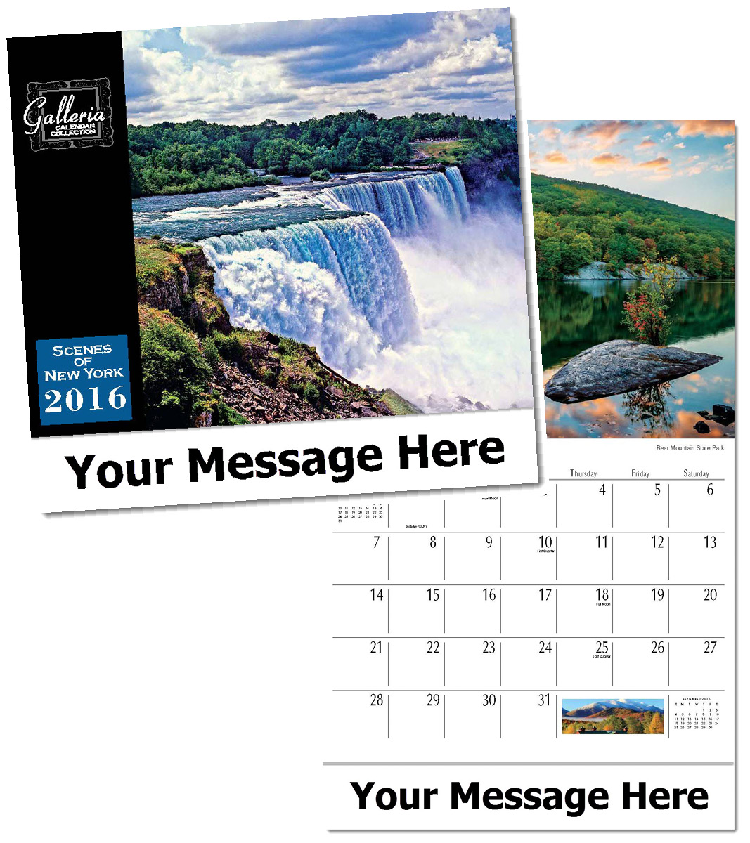 Wholesale Scenes of New York Calendars, Personalized with Custom Imprint