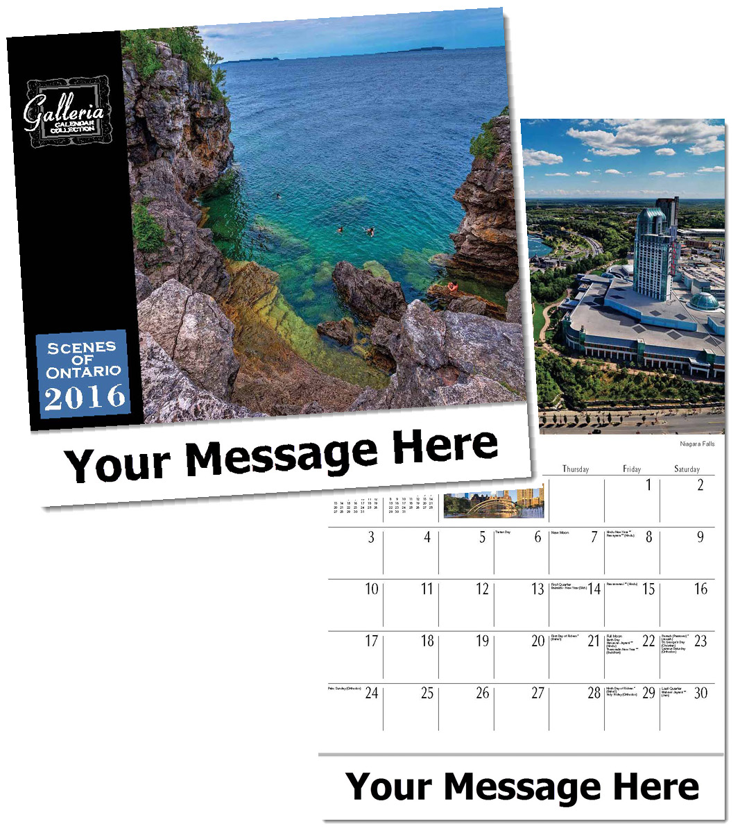 Ontario Wall Calendars, Personalized with Custom Imprint