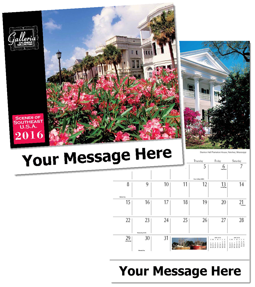 Wholesale Scenes of Southeast USA Calendars, Personalized with Custom Imprint