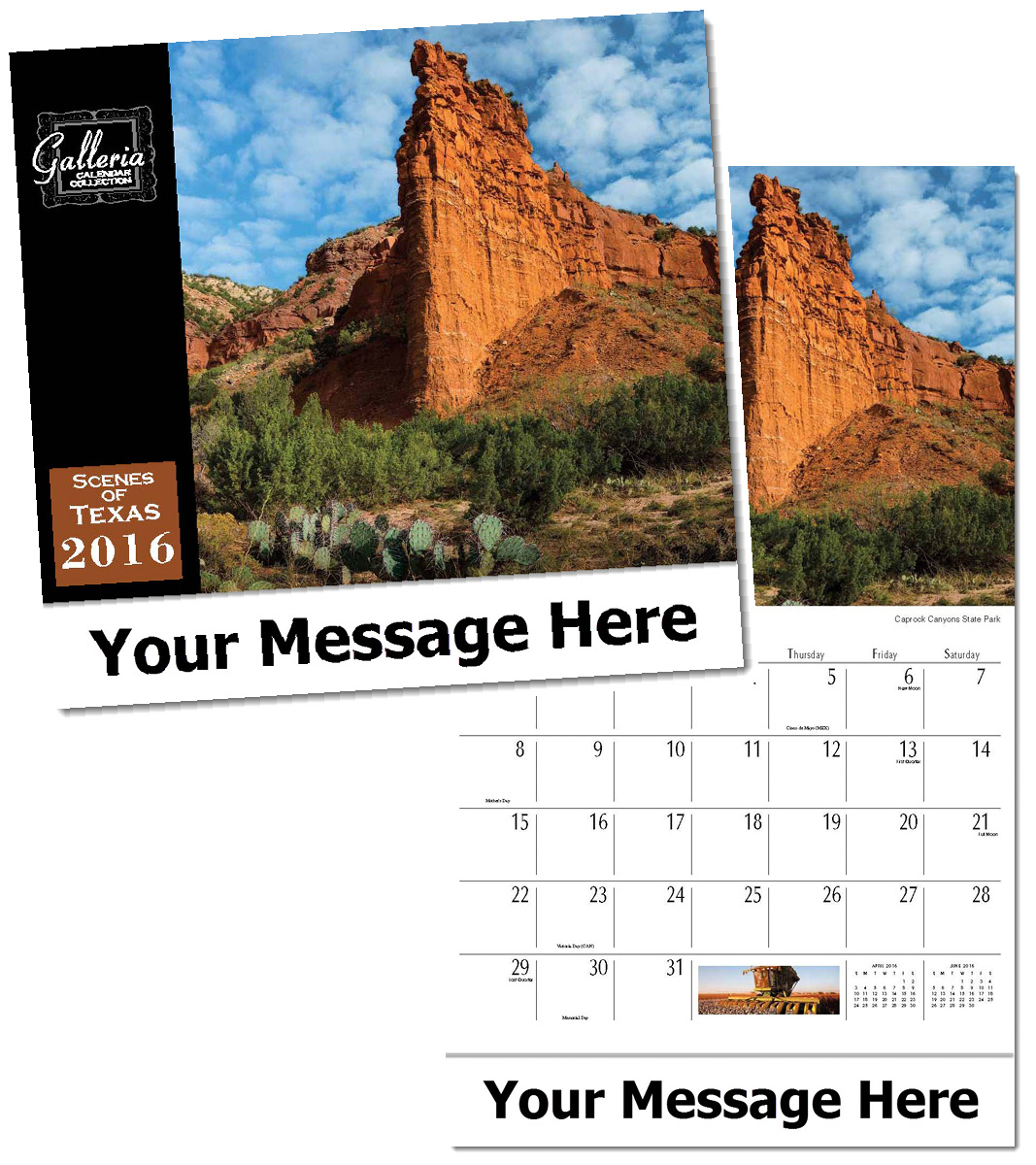Wholesale Scenes of Texas Calendars, Personalized with Custom Imprint