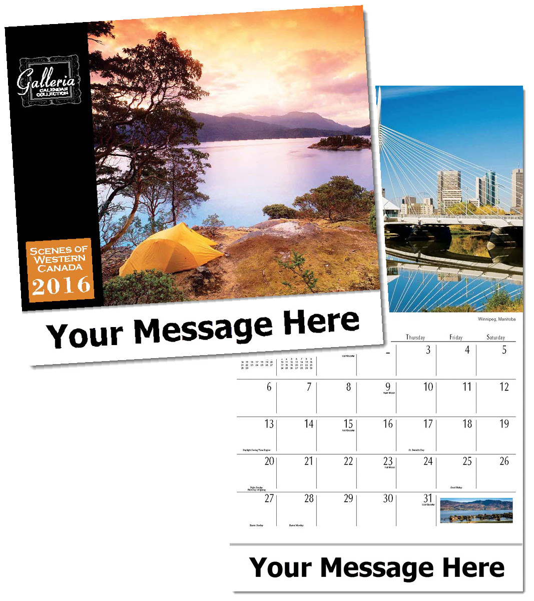 Wholesale Scenes of Western Canada Calendars, Personalized with Custom Imprint