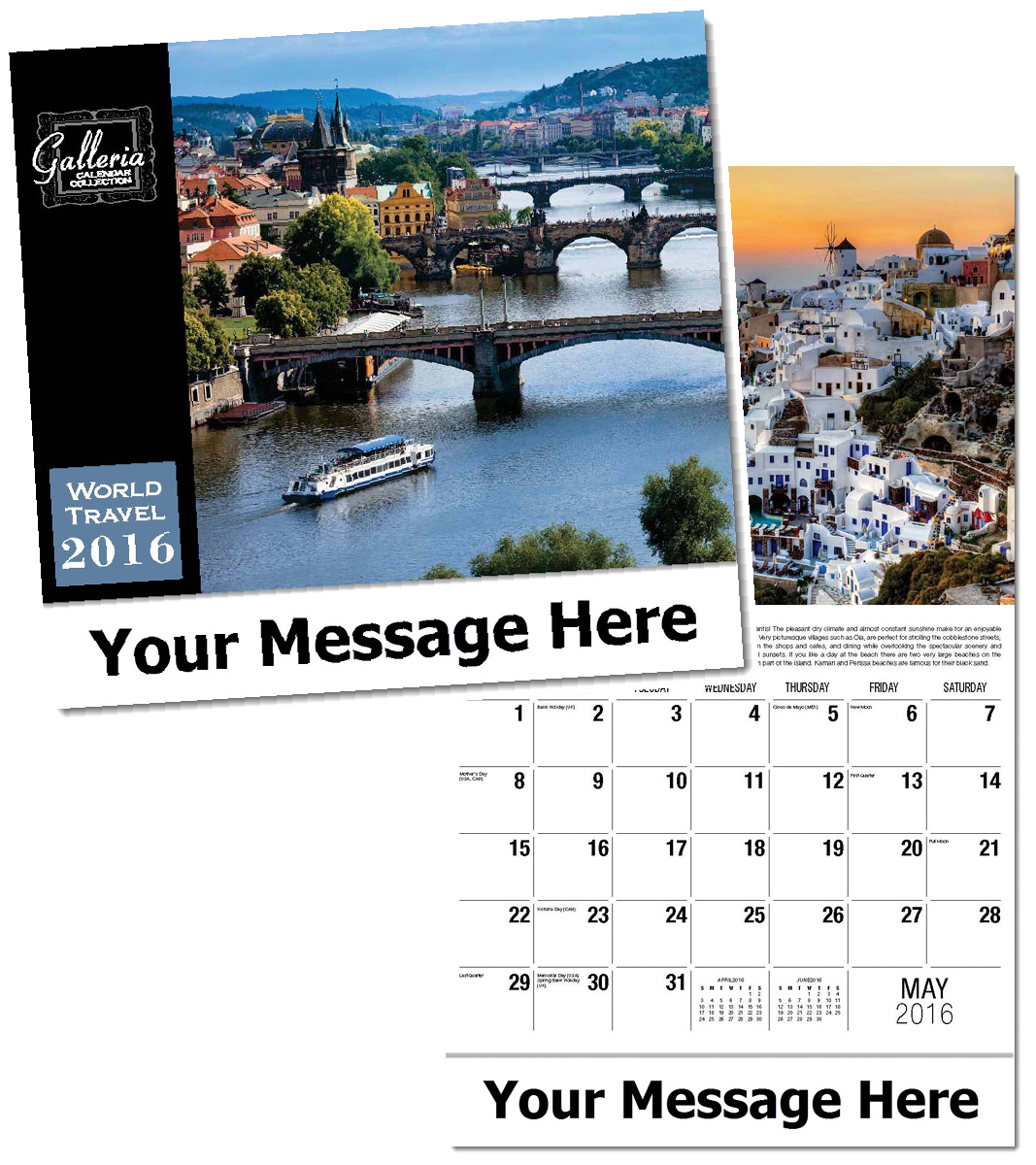 Wholesale World Travel Calendars, Personalized with Custom Imprint