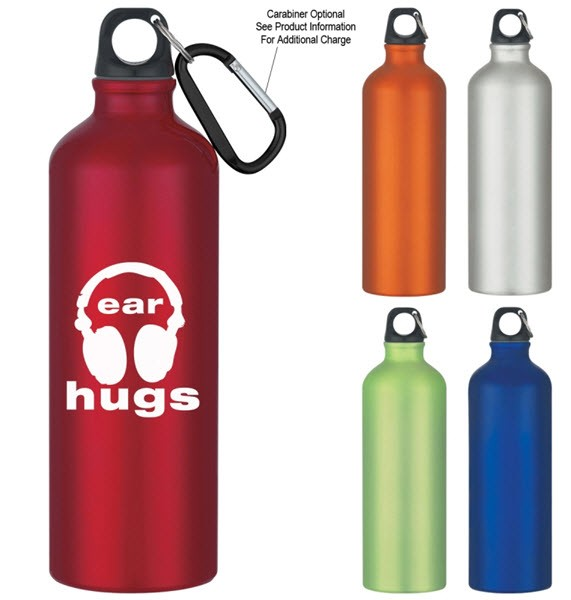Custom Personalized Aluminum Bike Bottles, Red, Blue, Green, Blue, Orange