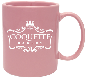 personalized colored coffee mugs in Almond