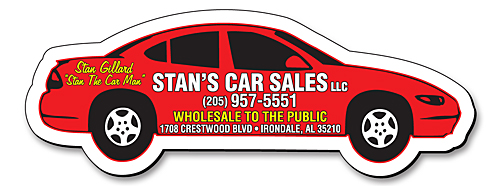 Custom Auto Shaped Magnets In Bulk Car Van Truck Cheap - Custom car magnets cheap