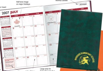 student planner for desk personalized