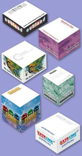Wholesale Adhesive  Paper Cubes -Sticky Cubes Notepads, Custom Imprinted