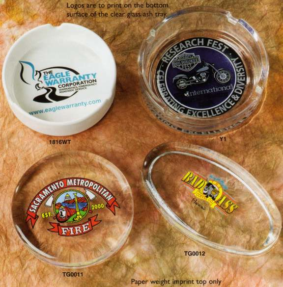 wholesale ashtrays bulk paperweights, Personalized, Glass and Ceramic