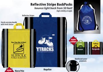 personalized reflective school backpacks, Royal Blue, Lime, Hunter Green, Yellow, White, Black, Red, Burgundy