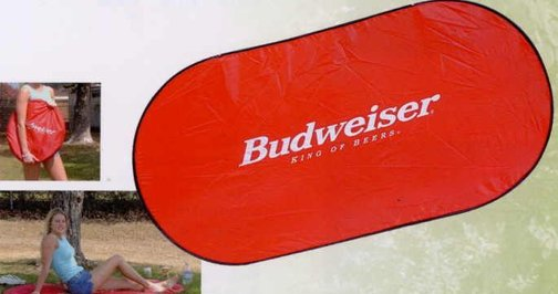 Beach Mat w/ Pillow, Personalized Red, Yellow, Royal