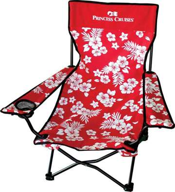 folding beach chairs personalized, Red Royal Blue