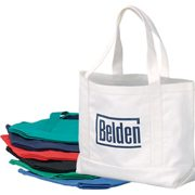 custom imprinted canvas boat totes