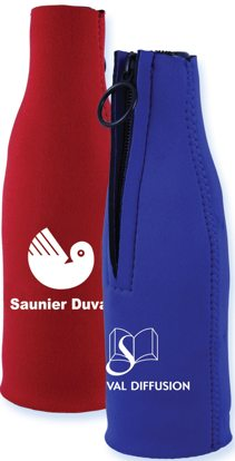 custom bottle koozies personalized inbulk, red, blue