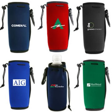 personalized neoprene bottle koozies -holders 16 Oz. to 24 Oz. with clips