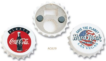 wholesale bottle opener magnets beer cap shaped