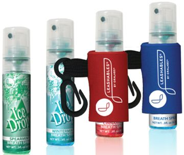 leash breath spray, spearmint or cinammon mint