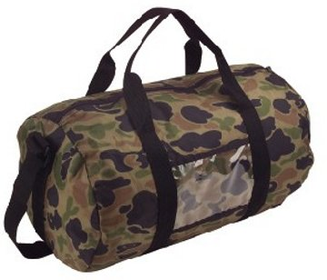custom imprinted camo duffel bags