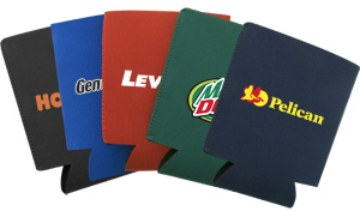 wholesale neoprene koozies, blue, red, black, camo, camouflage, yellow, purple, burgundy
