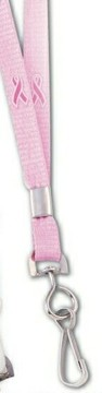 Cancer Awareness Lanyard w/ ID Holder Swivel Clip