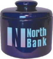 wholesale candy jars personalized cobalt blue 12 oz