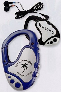 wholesale carabiner radios, blue or black, personalized