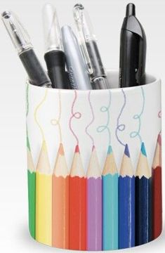 custom printed ceramic pen holders in bulk