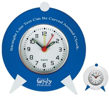 Retro clock personalized wholesale Blue, Silver