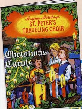 personalized christmas carols book