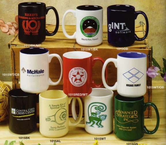 Bulk Colored Coffee Mugs 15 Oz