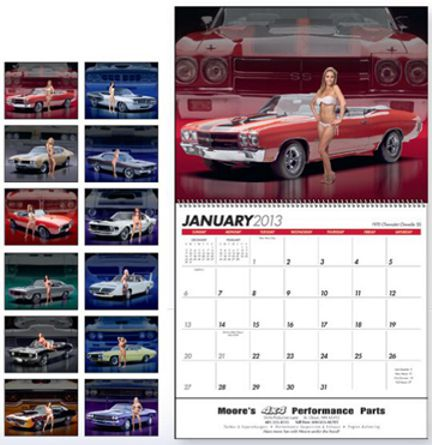 Custom Personalized Auto Girls Calendars -Promotional Car Models