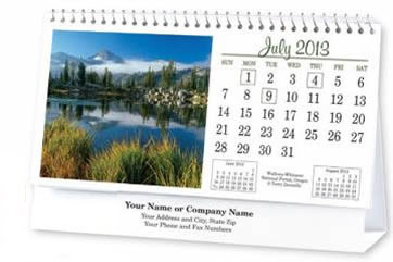 Custom Tent Desk Calendars Personalized