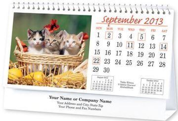 Custom Tent Desk Calendars Personalized In Bulk
