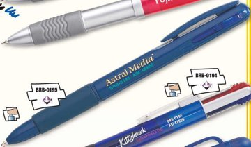 dual pen -two color pens customized.