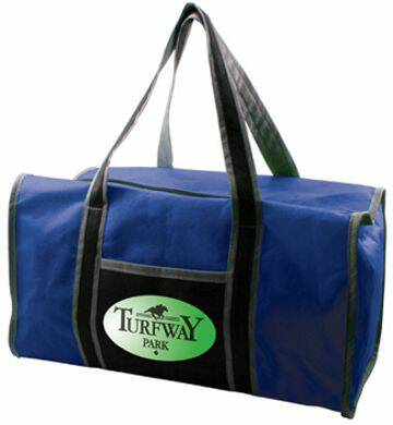 bulk recycled duffel bags, personalized, lowest US cost