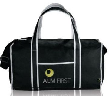 wholesale custom imprinted duffel bags with zippers, black, royal blue