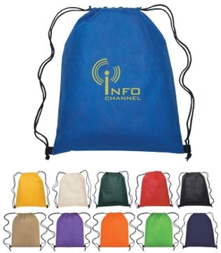 Wholesale drawstring backpacks in bulk,Yellow, Red, Royal , Ivory, Black or Green